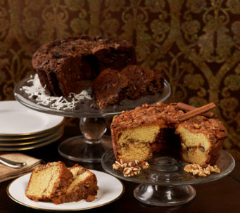 My Grandma's (2) 28 oz. Choc. Coconut & Cinnamon Walnut Coffee Cakes - M29167