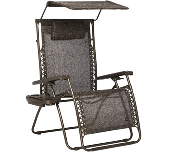 Bliss Hammocks Deluxe XXL Gravity Free Recliner w/Canopy & Tray - M48167