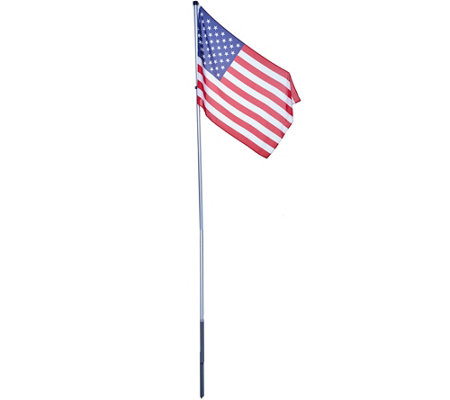 American Pride Tangle Free 12' Flag Pole with American Flag