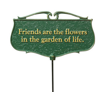 Friends are the Flowers - Garden Poem Sign - M107468