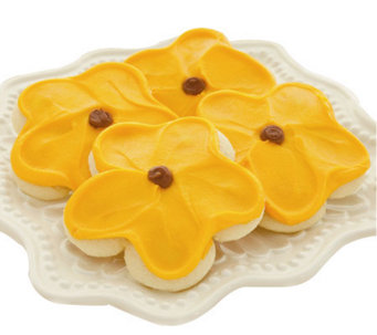 Cheryl's 48-pc Buttercream Frosted Sunflower Cut-out Cookies - M110068