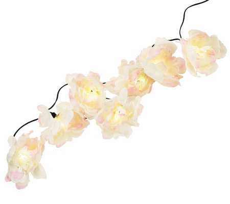 18' Floral Solar Light String Set by Smart Solar
