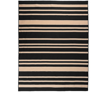 Barbara King Indoor/Outdoor 7'x10' Awning Stripe Cabana Rug - M46368