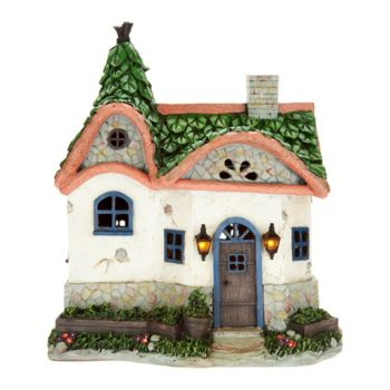 Plow & Hearth Solar Fairy Garden Cottage