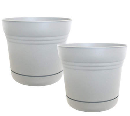 "Bloem 5"" Saturn Planter, 2-Pack"