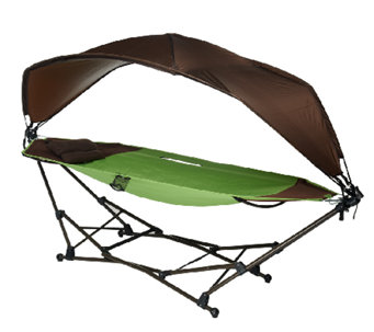 Barbara King Folding Hammock w/Adjustable Sun Shade - M43169