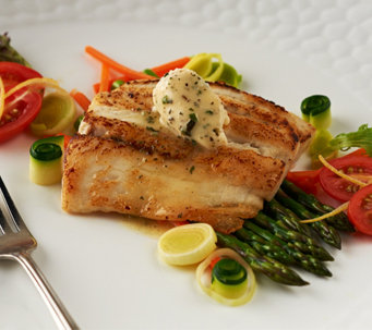 Australis (8) 5 oz. Sea Bass Filets with Butter Auto-Delivery - M50769