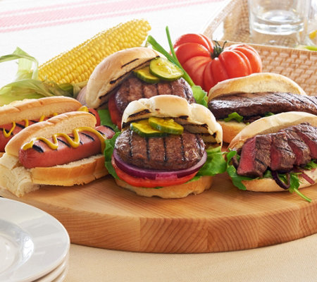Kansas City 6.1 lb Combo of Steakburgers, Sandwich Steaks & Hotdogs