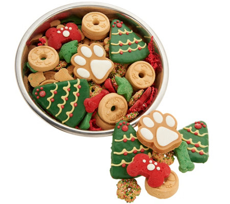 Claudia's Canine Bakery 24 oz. Dog Bowl with Holiday Treats