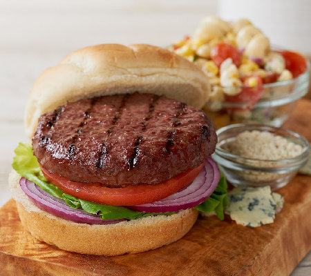 Kansas City (12) 4.5 oz. Steakburgers & (1) 3 oz. Blue Cheese Powder