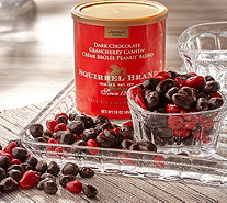 Ships 12/4 Squirrel Brand (3) 16-oz Tins Dark Chocolate Crancherry - M57170
