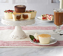 Ships 12/11 Junior's (18) 4 oz Holiday Mini Cheesecake Auto-Delivery - M57470
