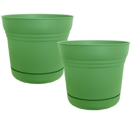 "Bloem 7"" Saturn Planter, 2-Pack"
