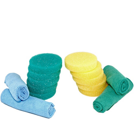 Bio Cleaner 10 Clay Cleaner Sponges & 4 Microfiber Towels