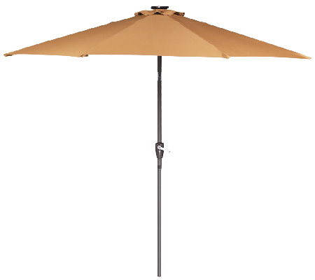 """As Is"" ATLeisure 9' Easy Light Touch Solar Umbrella w/ LED"