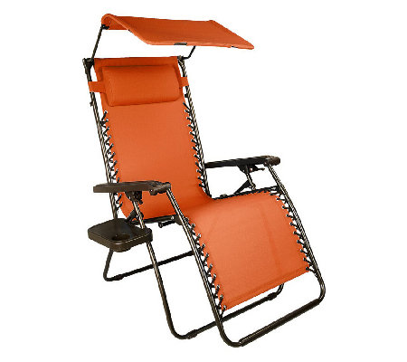 Bliss Hammocks Gravity Free Recliner W/Canopy U0026 Cup Tray