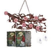 Desert Steel Blossom Cake Bird Feeder
