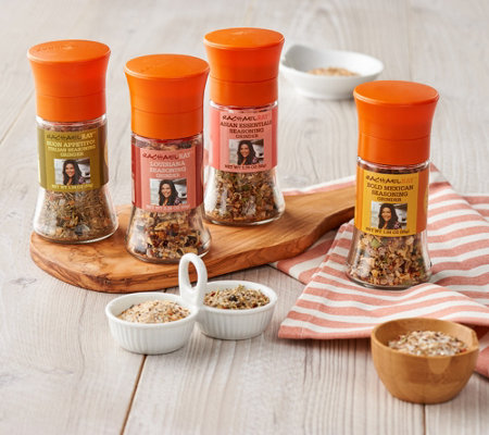 Rachael Ray Set of 4 Around the World Seasoning and Salt Grinders