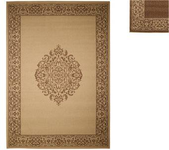 Veranda Living Naturals 7x10 Indoor/Outdoor Medallion Reversible Rug - M48173