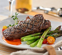 Rastelli Market Fresh (8) 10 oz. Black Angus NY Strip Steaks - M54773