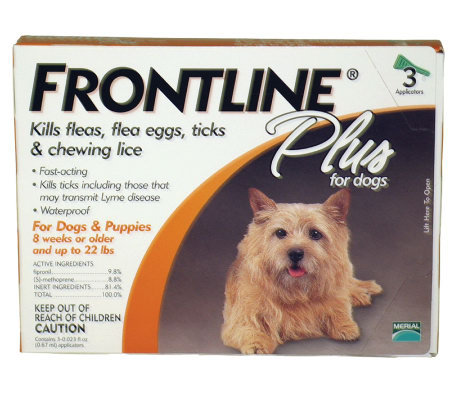 Frontline Plus Dog 1-22lb 3-Pack