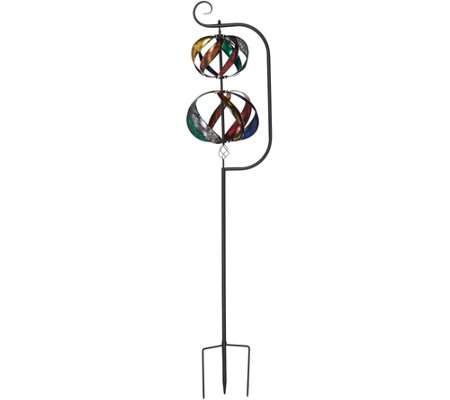 Plow & Hearth 7-ft Double Helix Metal Wind Spinner