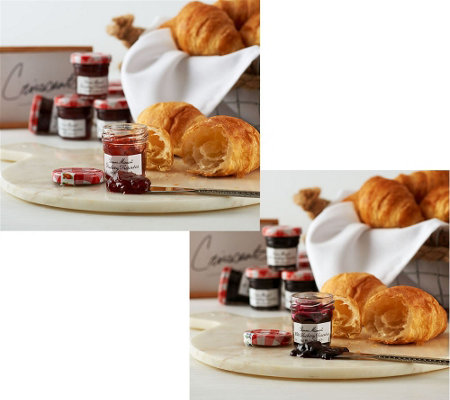 SH11/9Authentic Gourmet (30) Croissants with (30) Preserves Auto-Delivery