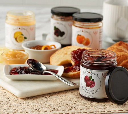 Just Jan's (4) 10 oz. Jars of Jam and Spreads Sampler