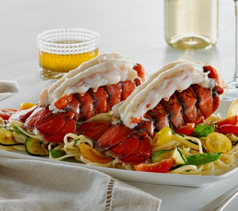 Lobster Gram (10) 4-5 oz. Lobster Tails with Butter and Seasoning - M50975