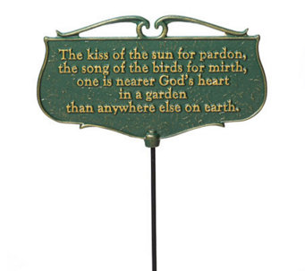The Kiss of the Sun - Garden Poem Sign - M107476