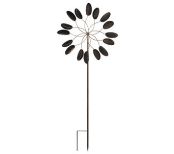 Plow & Hearth 6 ft. Steel Kinetic Garden Wind Spinner - M26377