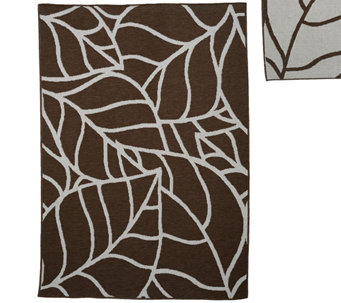 Veranda Living Colors Indoor/Outdoor Abstract 5x7 Reversible Rug - M48177
