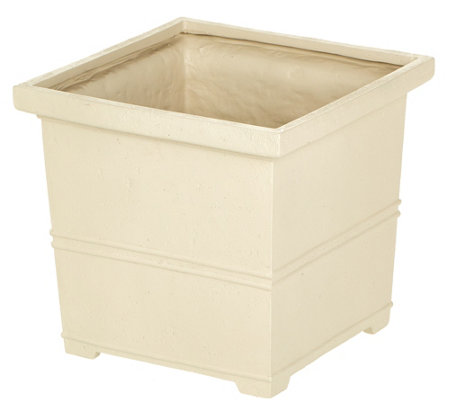 "Martha Stewart 17"" Square Planter with False Bottom"