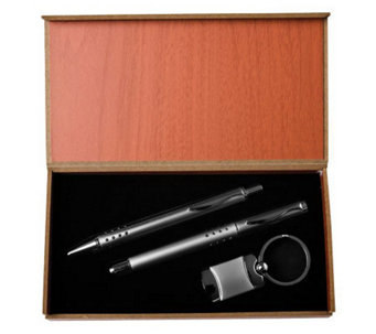 Key Ring and Double Pens - 3 Piece Gift Set - M111078
