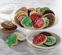 Ships 12/5 Cheryl's 50 Piece Holiday Cookie Auto-Delivery - M52678