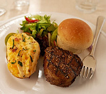 Kansas City (4) 6 oz. Filet Mignons w/ 4 Potatoes and 6 Rolls - M53978