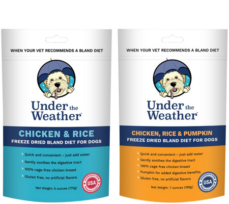 Under the Weather 2pk Bland Diet for Dogs