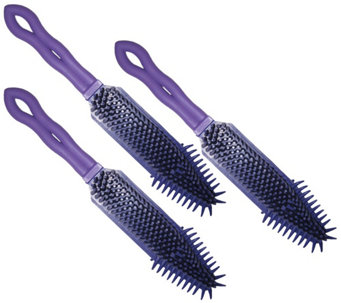 Don Aslett's Set of 3 Rubber Hand Brushes - M114579