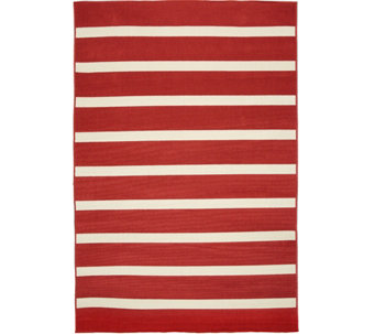 Tommy Bahama Indoor/Outdoor 5x7 Awning Stripe Rug - M48179