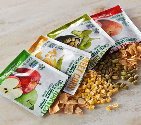 Sensible Foods (8) 4 Flavor Packs of Dried Fruits and Veggies