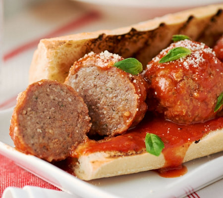 Mama Mancini's 6 lbs of 2.2 oz Meatballs with Sauce & Cheese Blend Packet