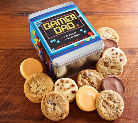 Cheryl's Father's Day Gamer Dad 12-Piece CookieTin