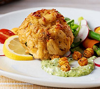 Great Gourmet (8) 6 oz. Supreme Flavored Crab Cakes - M54080