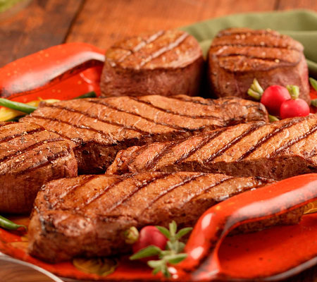 Kansas City (4) 8-oz Filet Mignons & (4) 10-ozStrip Steaks