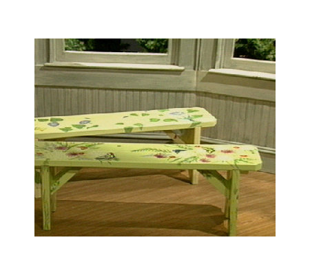 Easy To Assemble Handpainted Garden Bench Qvc Com