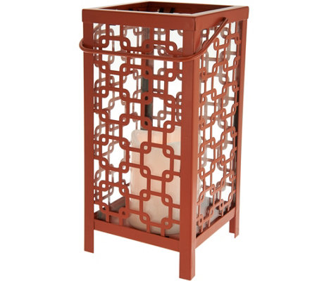 """As Is"" Scott Living Indoor/Outdoor Diamond Trellis Lantern"