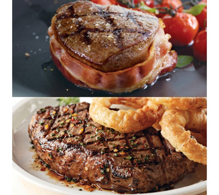 Kansas City Bacon Wrapped Filet Mignon/Strip Steaks