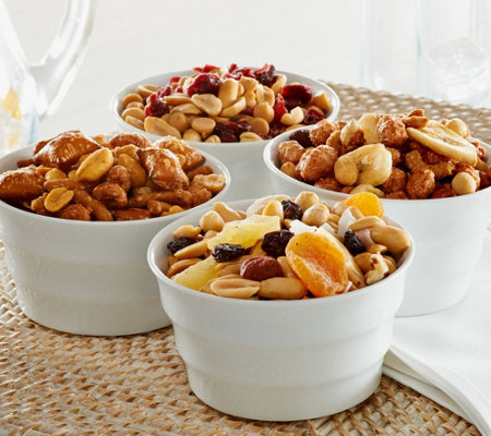 Peanut Shop of Williamsburg (4) Tin Snack Mix Sampler