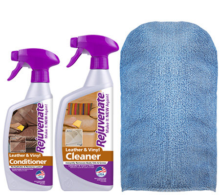 Rejuvenate Leather/Vinyl Cleaner, Conditioner &Mitt Kit
