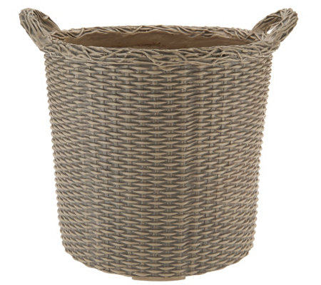 "Martha Stewart 10.5"" Faux Wicker Planter"